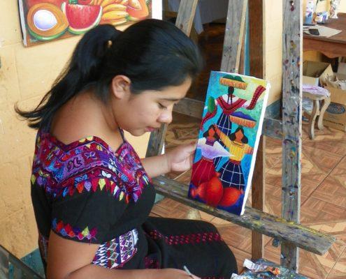 San Juan La Laguna Arte Maya Xocomeel | Yenifer Margarita Vásquez Mendoza