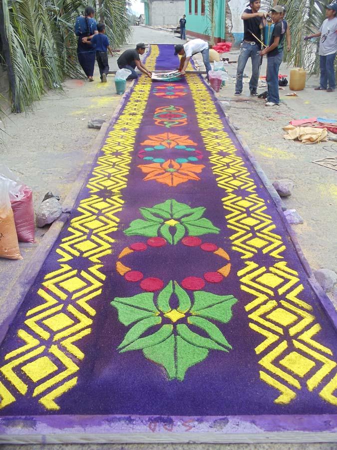 Semana Santa Guatemala Making Alfombras Lake Atitlan Tours