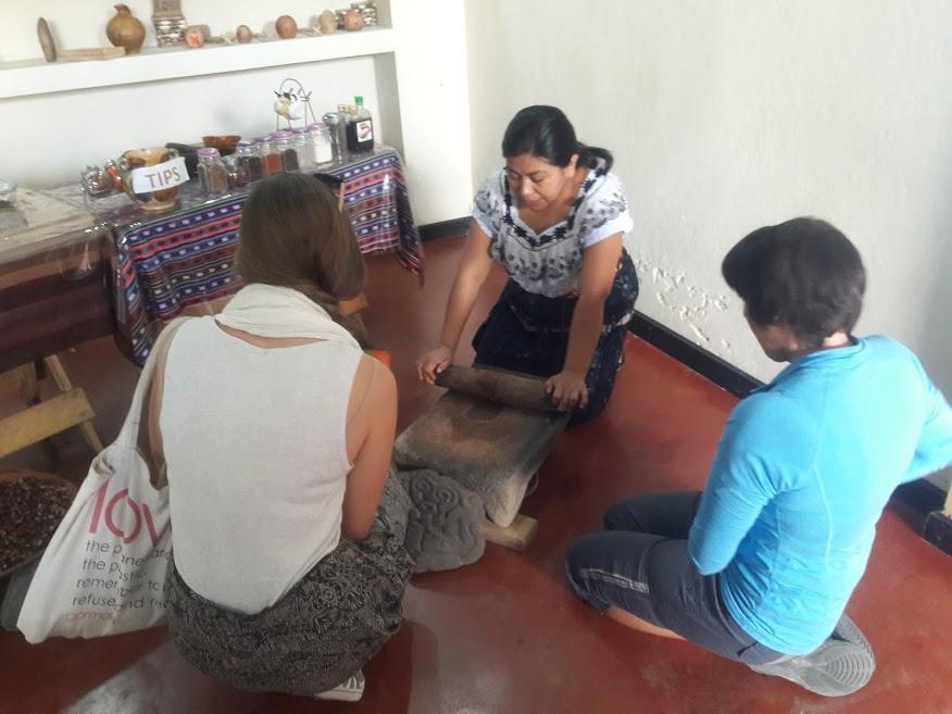 Lake Atitlan Chocolate - Stone-Grinding the Cocoa Beans